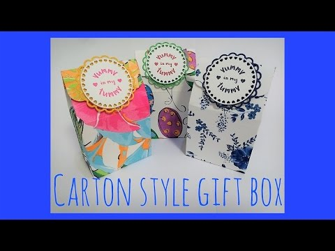 Easy carton style gift box tutorial