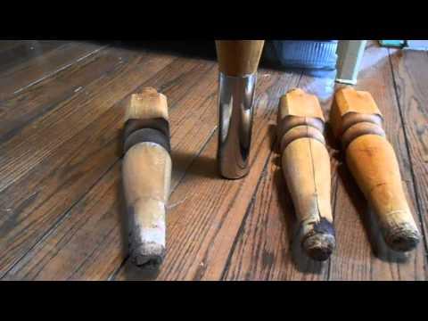 Vintage Butcher Block Table Rehab Leg Repair