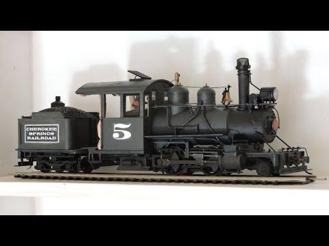 Brush Painting An On30 Steam Locomotive