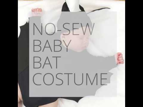 How To: No - Sew Baby Bat Costume