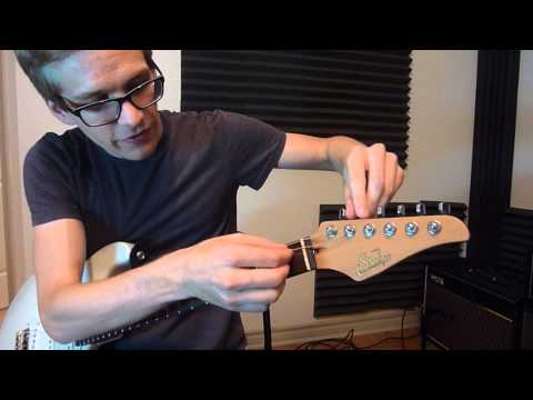 How To Change Guitar Strings With Locking Tuners (Easy Demo)