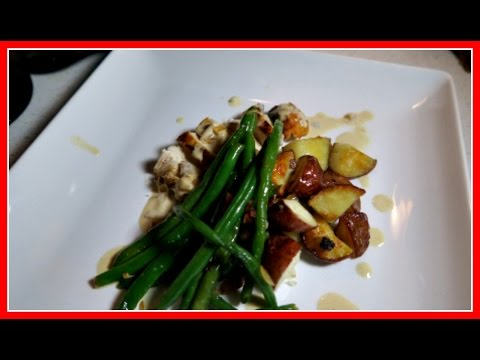 Sauteed chicken breast with roasted potatoes and green beans!