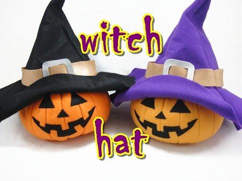 Felt Craft Tutorial - Halloween Witch Hat