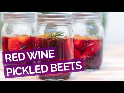 Red Wine Pickled Beets Recipe