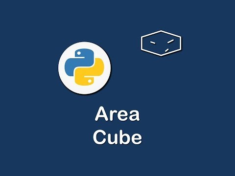 surface area of cube in python