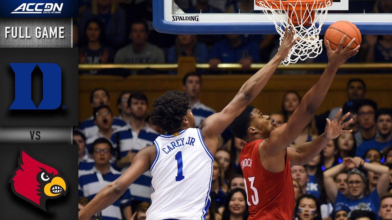 Duke vs. Louisville Full Game   2019-20 ACC Men's Basketball
