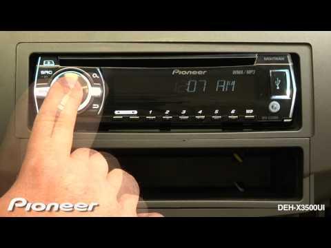 How To - DEH-X3500UI - Clock Settings