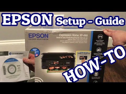 Unboxing and Setup Wireless print for the Epson Home Expression XP-440