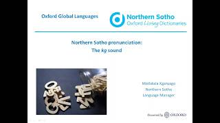 Oxford Northern Sotho dictionary: the 'kg' sound
