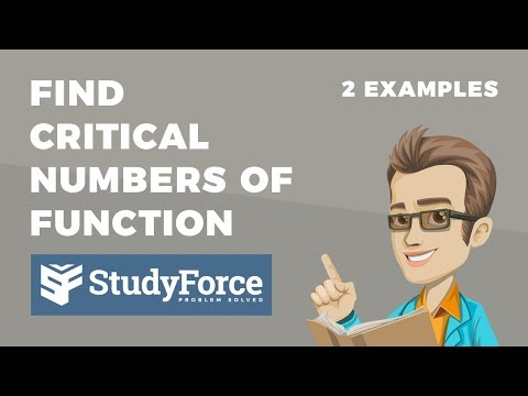 📚 How to find the critical numbers of a function