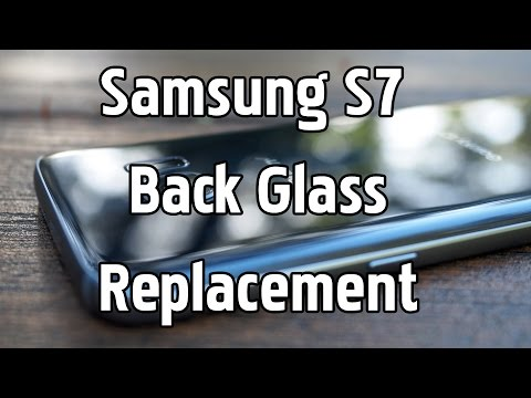 Samsung Galaxy S7 Back Glass replacement, Uncut start to finish