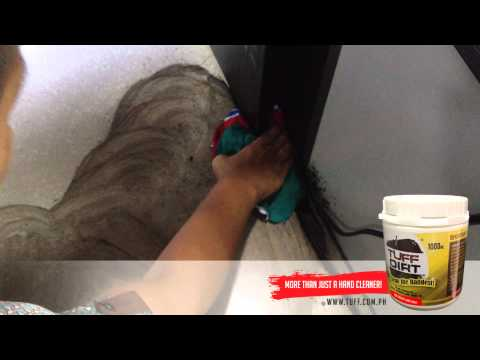 TuffDirt - How to remove Dried Ink on Tiles the easy way!