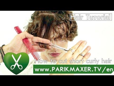How to cut short curly hair parikmaxer tv english version
