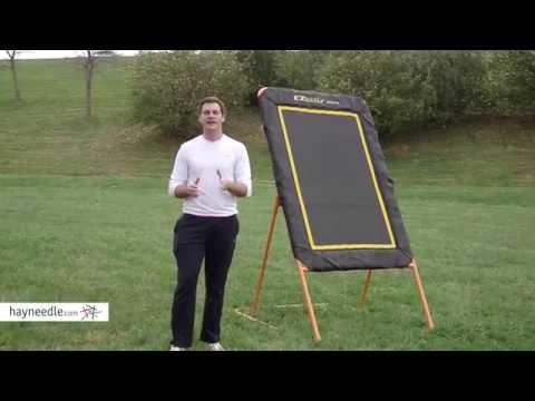 EZ Goal 8 ft. Pro Folding Lacrosse Pitchback - Product Review Video