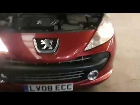 How To Change H7 Headlight Bulb - Peugeot 207
