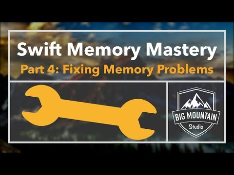 Memory 4 - Fixing Common Memory Problems: Reusable Popups (iOS, Xcode 9, Swift 4)