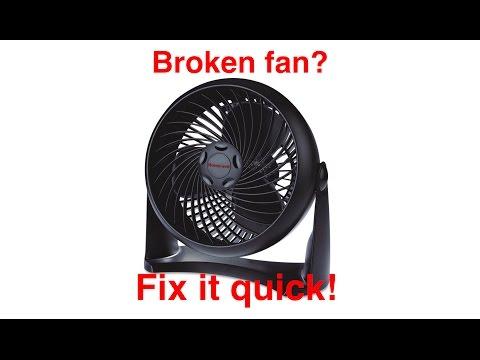 QUICK FIX FOR BROKEN FAN: 5 minute Fix (Example: Honeywell HT-900)