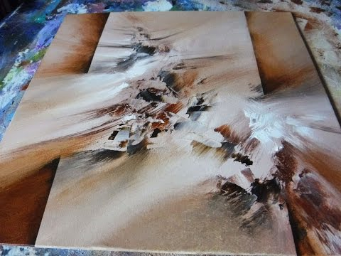 Abstract Painting DEMO 17 / How to paint / Easy abstract art / painting techniques