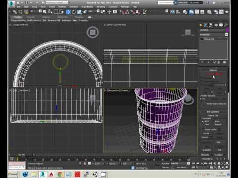 How to make a metal barrel-3DSMAX