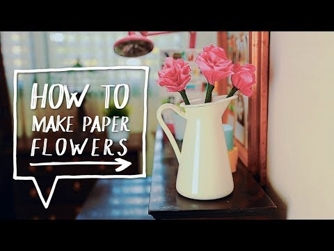 DIY PAPER FLOWERS | How to Make Flowers Out of Paper + Pencils!  ✨Alejandra's Styles