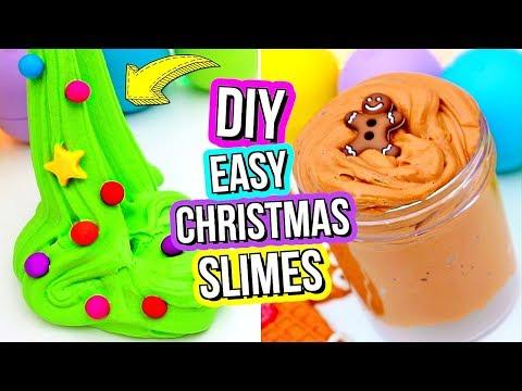 DIY FUN HOLIDAY SLIME RECIPES! How To Make Slime For Christmas!
