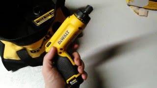 Showing my new dewalt cordless screwdriver I got at lowes