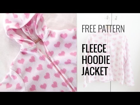 Quick and Easy Fleece Hoodie Jacket