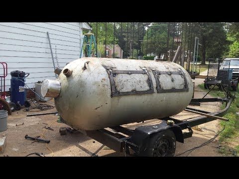 How to build Pig Cooker / Smoker on boat trailer
