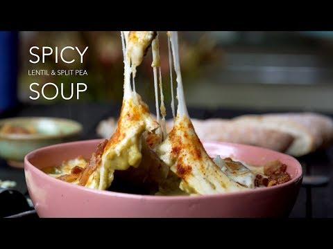 Spicy Lentil and Split Pea Soup