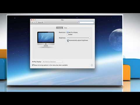 How to change brightness in Mac® OS X™