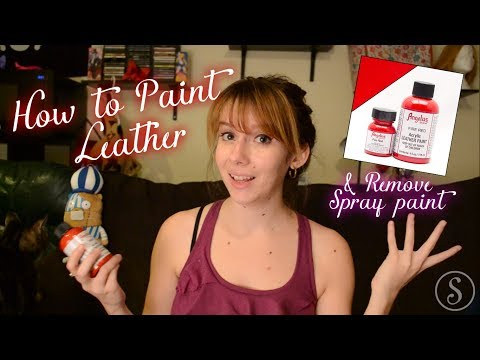 Painting Leather Boots & How to remove Spray Paint - Smikimimi