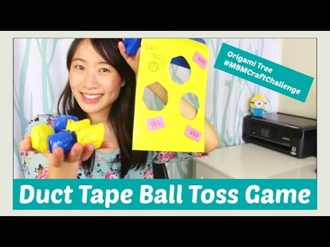 Duct Tape Crafts - DIY Ball Toss Carnival Game Tutorial - Kids Crafts - Made By Mommy