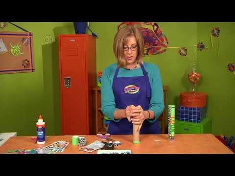 Build your own kaleidoscope on Hands On Crafts for Kids with Katie Hacker (1604-2)