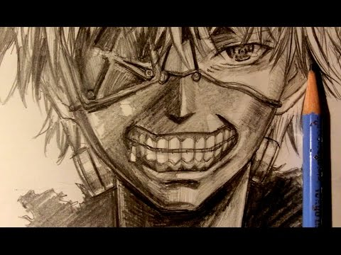 ASMR | Pencil Drawing 11 | 東京喰種 Tokyo Ghoul (Request)