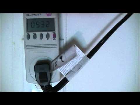 Refrigerator Power Usage Over 24 Hours
