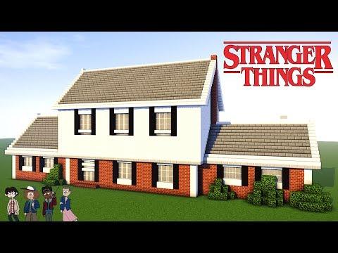 Minecraft Tutorial: How to Make Stranger Things House - Mike wheeler - Suburban house