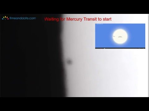 May 9, 2016, Transit of Mercury