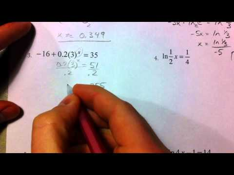 Solving Exponential and Logarithmic Equations (Part 1)