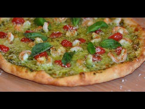 How to: Shrimp Pesto and Tomato Pizza PIY