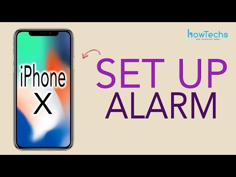 iPhone X - How to Set and Delete an Alarm