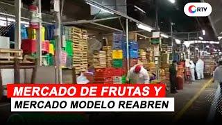 Coronavirus en el Perú: Mercado de Frutas y Mercado Modelo reabren sus puertas