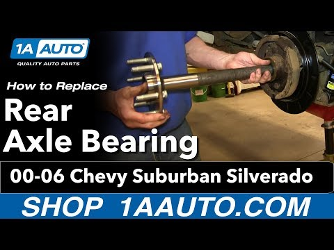 How To Replace Rear Axle Bearing 00-06 Chevy Suburban