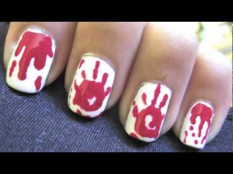 Bloody Handprint Nails