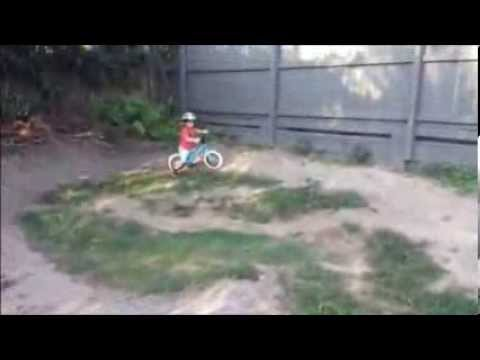21 month Year Old Riding Pump Track