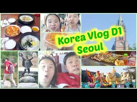 Korea Trip  Vlog - Seoul Day 1, Food, Church, Lantern Festival, Nanta Show, Street Food