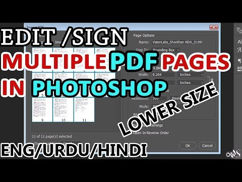 EDIT/SIGN MULTIPLE PDF PAGES IN PHOTOSHOP (LOW SIZE)
