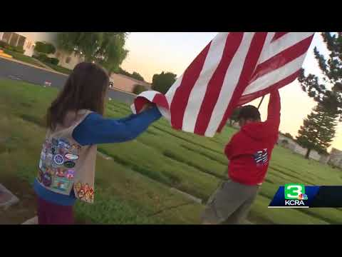 NorCal scouts lay flags ahead of Memorial Day event