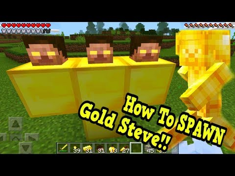 How To Spawn Gold Steve in Minecraft Pocket Edition!!!