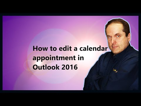 How to edit a calendar appointment in Outlook 2016