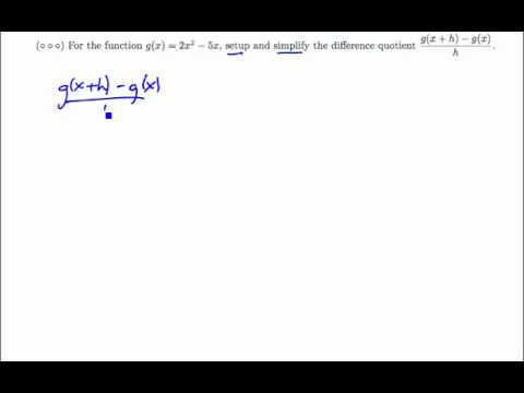 Difference Quotient with Polynomial